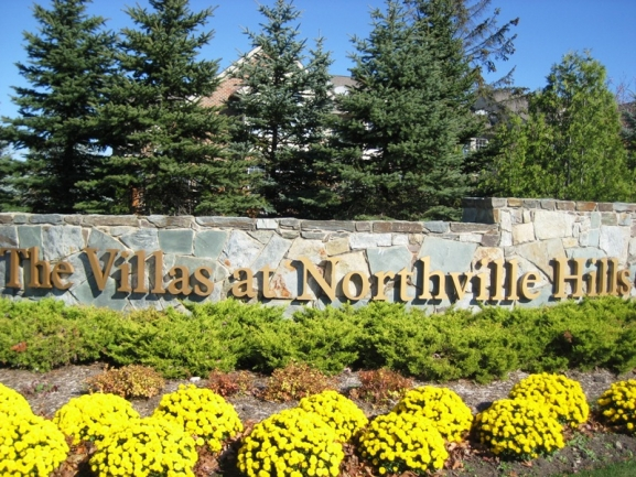 The Villas at Northville Hills Golf Club, Northville Michigan. Subdivision entrance.