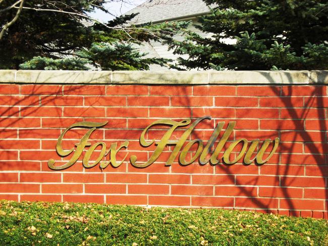 Fox Hollow, Northville MI neighborhood. Subdivision entrance