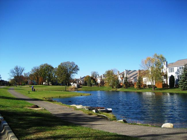 Country Club Village Northville, MI. Golf course view.