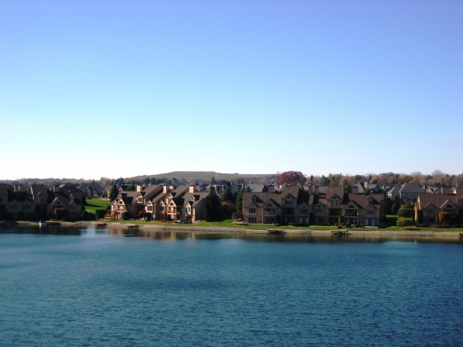 Blue Heron Pointe condos, Northville MI. Lake view.