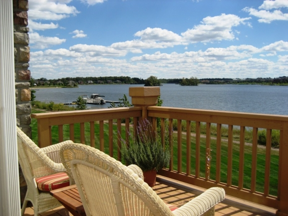 Island Lake of Novi, Michigan condos. View of the water.