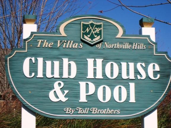 The Villas at Northville Hills Golf Club, Northville MI. Clubhouse entrance.