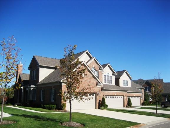 The Villas at Northville Hills Golf Club, Northville MI. Condo elevation.