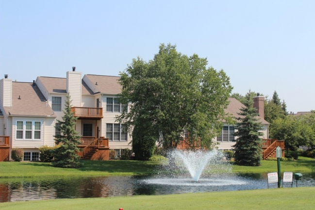 Gorgeous pond view in Country Club Village, Northville MI