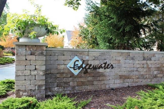 Edgewater condominium complex entry