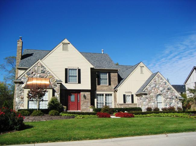 Maple Hill subdivision, Northville MI. Home elevation 2