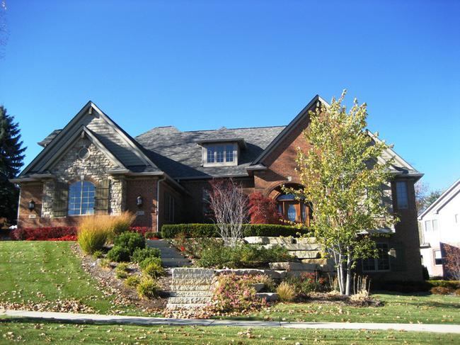 Pheasant Hills, Northville Michigan. Home elevation in neighborhood.