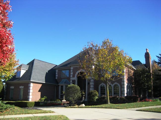 Pheasant Hills, Northville MI. Home elevation in neighborhood