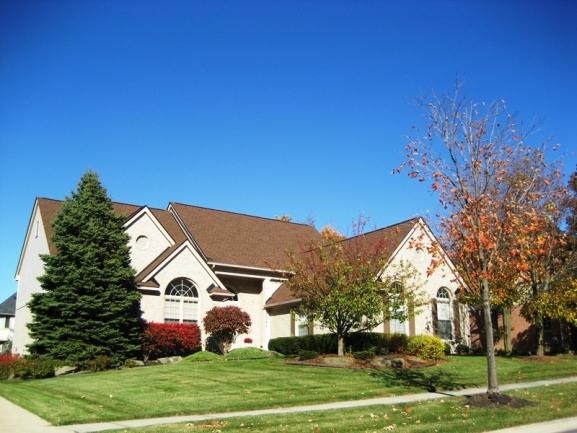 Chase Farms neighborhood, Novi MI. Home elevation 7