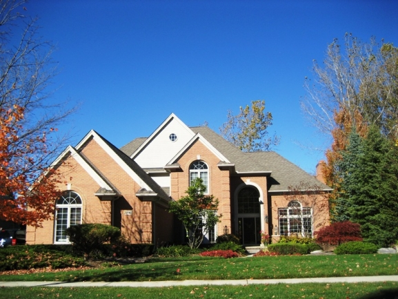 Chase Farms subdivision, Novi MI. Home elevation 4