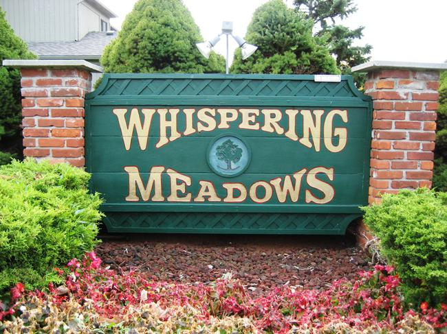Whispering Meadows, Novi MI. Subdivision entrance.