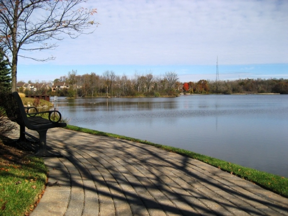 Cascades of Northville, Northville MI. View of Waterford Lake