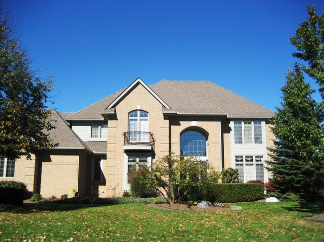Crestwood Manor subdivision, Northville MI. Home elevation.