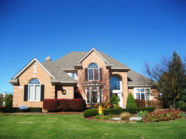 Hills of Crestwood, Northville MI. Home elevation.