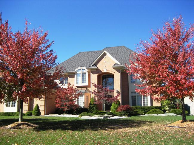 Crestwood Manor neighborhood, Northville MI. Home elevation.