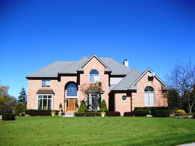 Hills of Crestwood neighborhood, Northville MI. Home elevation.