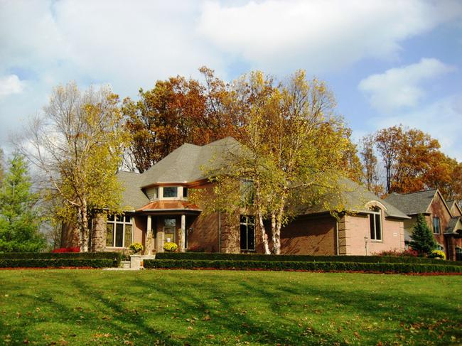 Fox Hollow subdivision, Northville MI. Home elevation.