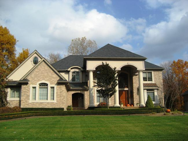 Fox Hollow neighborhood, Northville MI. Home elevation.