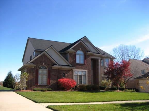 Brookstone Village, Northville neighborhood. Home elevation