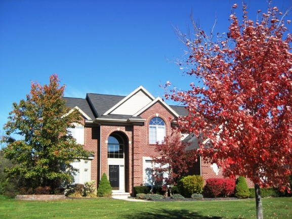 Brookstone Village Subdivision, Northville MI. Home elevation.