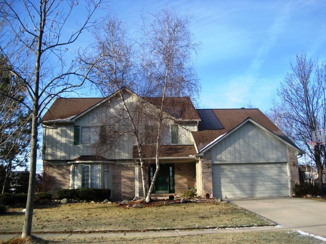 Briarwood Subdivision, Novi MI. Home elevation