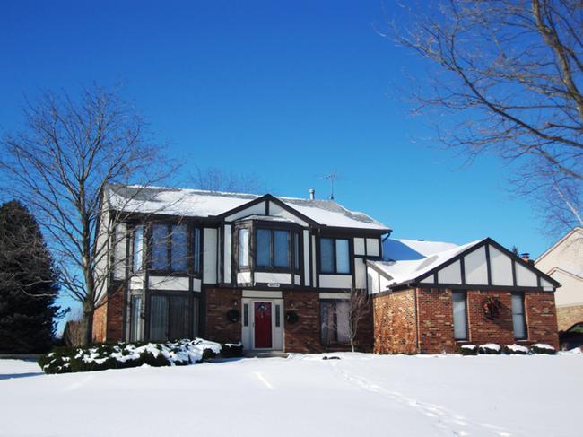 Home elevation 11 od Dunbarton Pines neighborhood, Novi MI 48375.