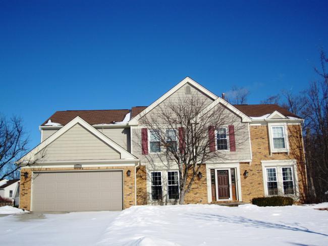 Dunbarton Pines Subdivision, Novi MI 48375. Home elevation 3