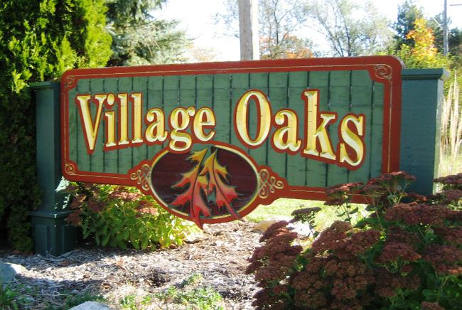 Neighborhood of Village Oaks in Novi MI real estate
