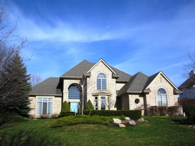 Home elevation in the Hills of Crestwood subdivision