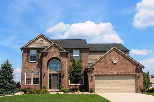 Home Elevation in Arcadia Ridge Neighborhood, Northville MI