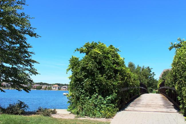 Stonewater subdivision view of bridge