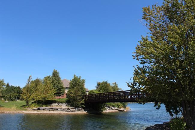 Bridge in Stonewater Neighborhood, Northville MI real estate