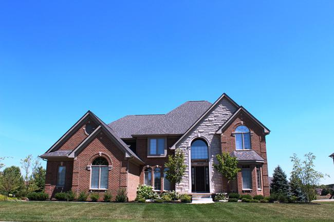 Home elevation in Stonewater neighborhood in Northville
