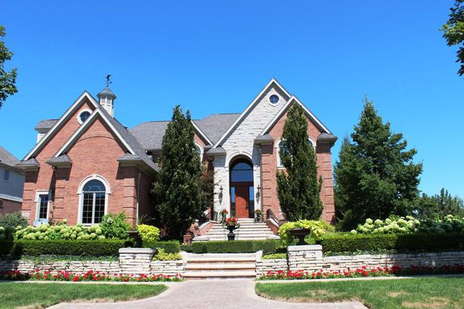 Elevation 9 in Stonewater subdivision in Northville MI